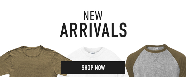 Picture of shirts. Click to shop New Arrivals.